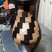 Графины ручной работы. Ярмарка Мастеров - ручная работа Сувенирная ваза из дерева. Handmade.
