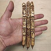 Русский стиль handmade. Livemaster - original item Wooden carved handles