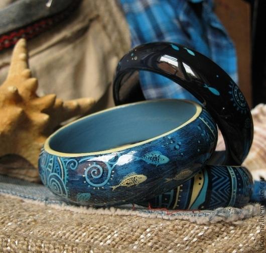 Браслеты ручной работы. Ярмарка Мастеров - ручная работа. Купить браслеты Морские. Handmade. Голубой, белый, яркие браслеты