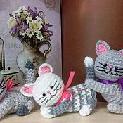 Мягкие игрушки ручной работы. Ярмарка Мастеров - ручная работа Кот амигуруми вязаный. Handmade.