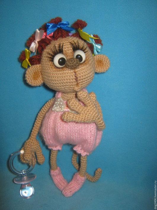 Обучающие материалы ручной работы. Ярмарка Мастеров - ручная работа. Купить МК по вязанию обезьянки Манечки. Handmade. Комбинированный, проволока
