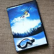 Канцелярские товары handmade. Livemaster - original item The wallet of the driver or the passport of the snow. Handmade.