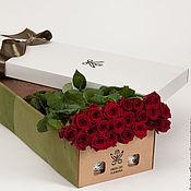 Цветы и флористика ручной работы. Ярмарка Мастеров - ручная работа Цветы живые в подарочной коробке. Handmade.