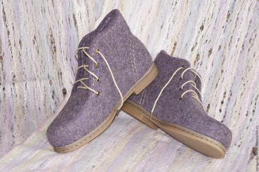 """Обувь ручной работы. Ярмарка Мастеров - ручная работа. Купить Ботинки валяные """"Вечернее свидание"""". Handmade. Валяная обувь"""