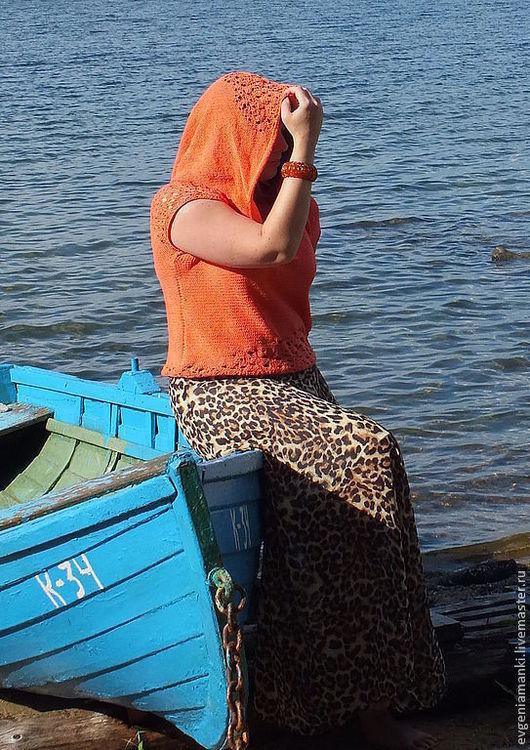 Кофты и свитера ручной работы. Ярмарка Мастеров - ручная работа. Купить кофточка Коралловый блюз вязаная женская летняя авторская. Handmade.