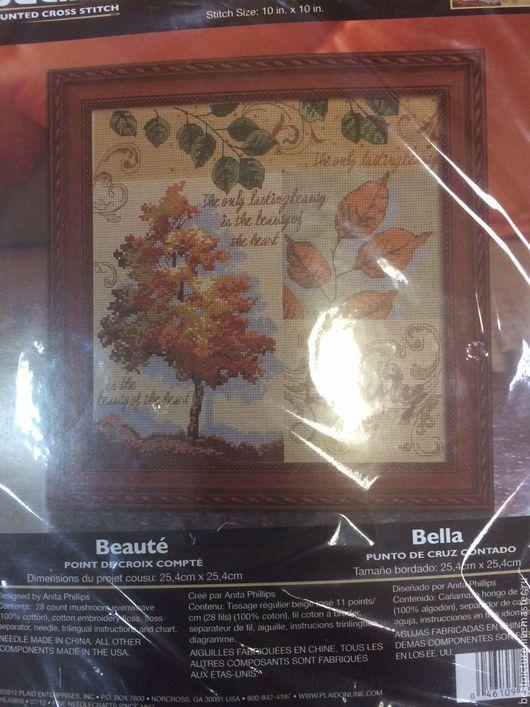 Вышивка ручной работы. Ярмарка Мастеров - ручная работа. Купить Beauty Autumn Leaves. Набор для вышивания Осенние листья. Handmade.