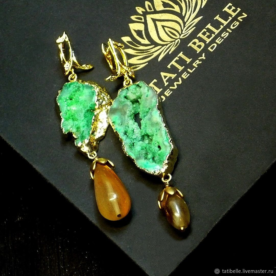 Earrings from Druze 'Time of Magic', Earrings, Moscow,  Фото №1
