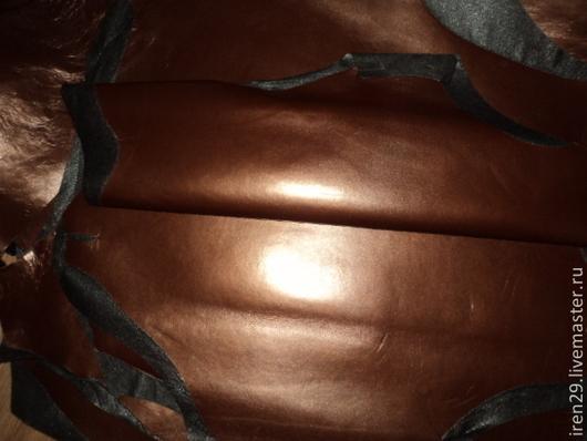 """Шитье ручной работы. Ярмарка Мастеров - ручная работа. Купить Натуральная кожа """"Шоколадный Жемчуг"""" полуматовая. Handmade. Кожа"""