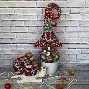 """Куклы и игрушки ручной работы. Ярмарка Мастеров - ручная работа Текстильная ёлочка и улитка """"Новогодняя сказка"""". Handmade."""