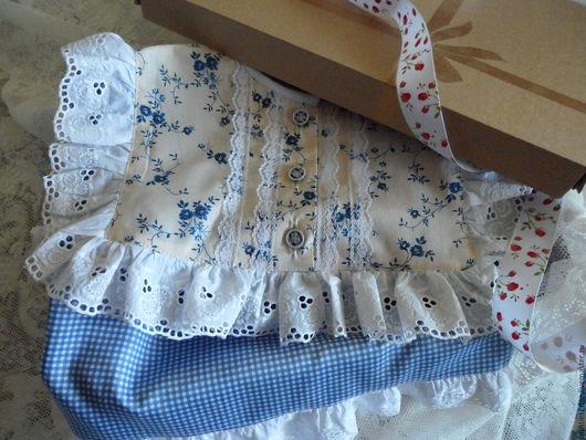 """Одежда для девочек, ручной работы. Ярмарка Мастеров - ручная работа. Купить Ночная рубашка """"Ларочка"""". Handmade. Синий, пижама для девочки"""