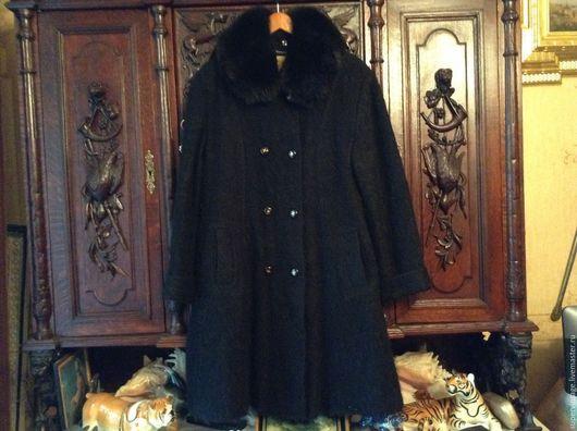 Одежда. Ярмарка Мастеров - ручная работа. Купить Австрия. Зимнее пальто, мохер. Handmade. Черный, мохеровое пальто, оригинал