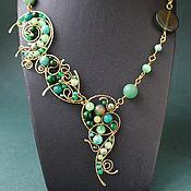 Украшения handmade. Livemaster - original item Necklace Ondine (option with jade). Handmade.