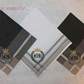 Аксессуары handmade. Livemaster - original item Handkerchiefs with initials. Handmade.