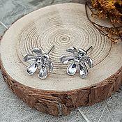 Материалы для творчества handmade. Livemaster - original item The basis for studs stud earrings Flower 11mm rhodium (3963). Handmade.