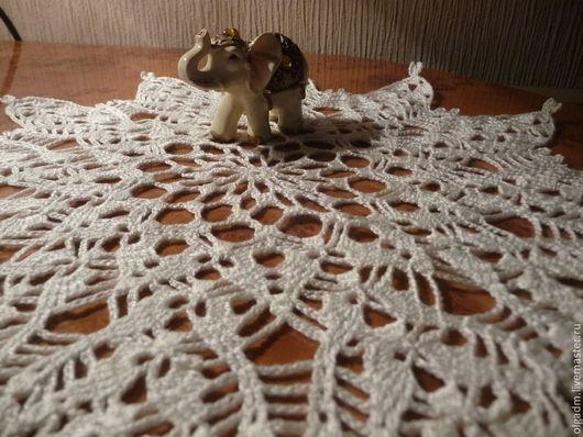 Текстиль, ковры ручной работы. Ярмарка Мастеров - ручная работа. Купить Салфетка крючком №12. Handmade. Бежевый, для дома и интерьера