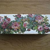 Для дома и интерьера ручной работы. Ярмарка Мастеров - ручная работа Шкатулка Розы ренессанса. Handmade.