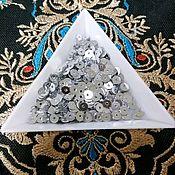 Материалы для творчества handmade. Livemaster - original item Sequins India 4 mm silver. Handmade.