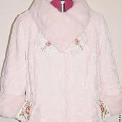 """Одежда ручной работы. Ярмарка Мастеров - ручная работа Элегантный меховой полушубок """"Розовая вуаль"""". Handmade."""