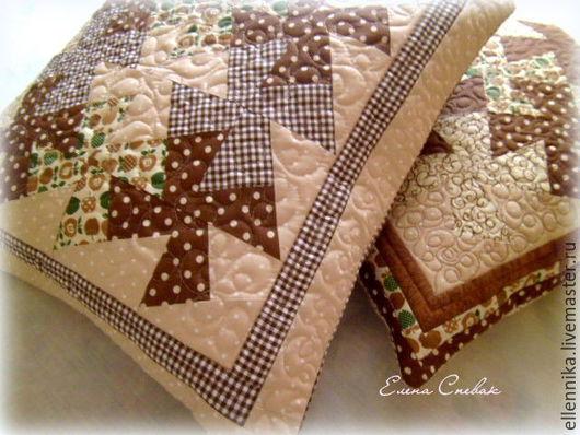 Текстиль, ковры ручной работы. Ярмарка Мастеров - ручная работа. Купить Наволочки стеганые. Handmade. Наволочка на подушку, Подушки