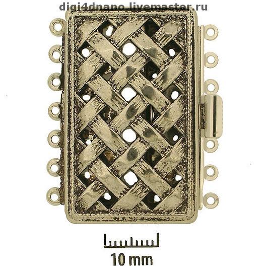 Для украшений ручной работы. Ярмарка Мастеров - ручная работа. Купить Замок на 7 нитей для колье или пояса, №34. Handmade.