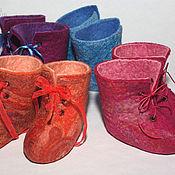 Обувь ручной работы. Ярмарка Мастеров - ручная работа Пинетки-носки для малышей, кукол и игрушек 9см. Handmade.