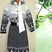 Одежда handmade. Livemaster - original item Knitted coat with hood and scarf. Handmade.