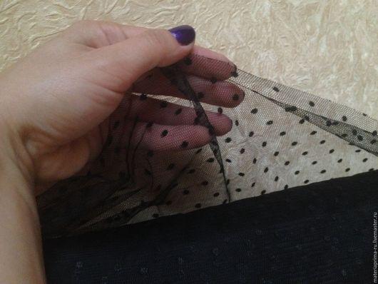Шитье ручной работы. Ярмарка Мастеров - ручная работа. Купить Сетка фатин с мушками ( горошками ) мягкая. Handmade.