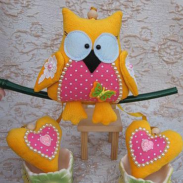 Куклы и игрушки ручной работы. Ярмарка Мастеров - ручная работа Совушка на ветке. Handmade.