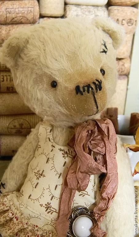 Мишки Тедди ручной работы. Ярмарка Мастеров - ручная работа. Купить Чайная Роза. Handmade. Бежевый, коллекционные медведи