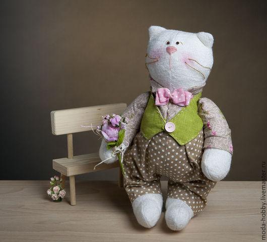 """Куклы и игрушки ручной работы. Ярмарка Мастеров - ручная работа. Купить Набор для шитья """"Кот Антуан"""" Модное Хобби. Handmade."""