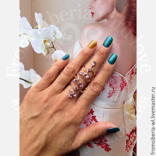 Кольца ручной работы. Ярмарка Мастеров - ручная работа. Купить Кольцо на весь палец, золото 585 (арт. 2162род). Handmade. Желтый