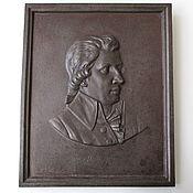 Винтаж handmade. Livemaster - original item Antique Portrait Bas-relief of Mozart as Cast iron Kasli. Handmade.