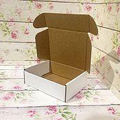 Коробки ручной работы. Ярмарка Мастеров - ручная работа Самосборная коробка 12х10х4см белая. Handmade.