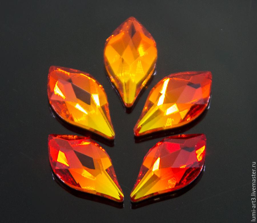 Для украшений ручной работы. Ярмарка Мастеров - ручная работа. Купить Flame Flat Back 10мм Fire Opal Клеевые стразы холодной фиксации 1 шт. Handmade.