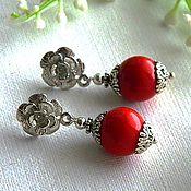 Украшения handmade. Livemaster - original item Coral. Earrings-ear-stud (cloves) with corals.. Handmade.