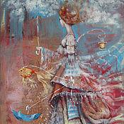 Картины и панно ручной работы. Ярмарка Мастеров - ручная работа Осенняя прогулка. Handmade.