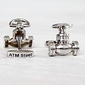 Запонки из серебра 925 пробы любой формы