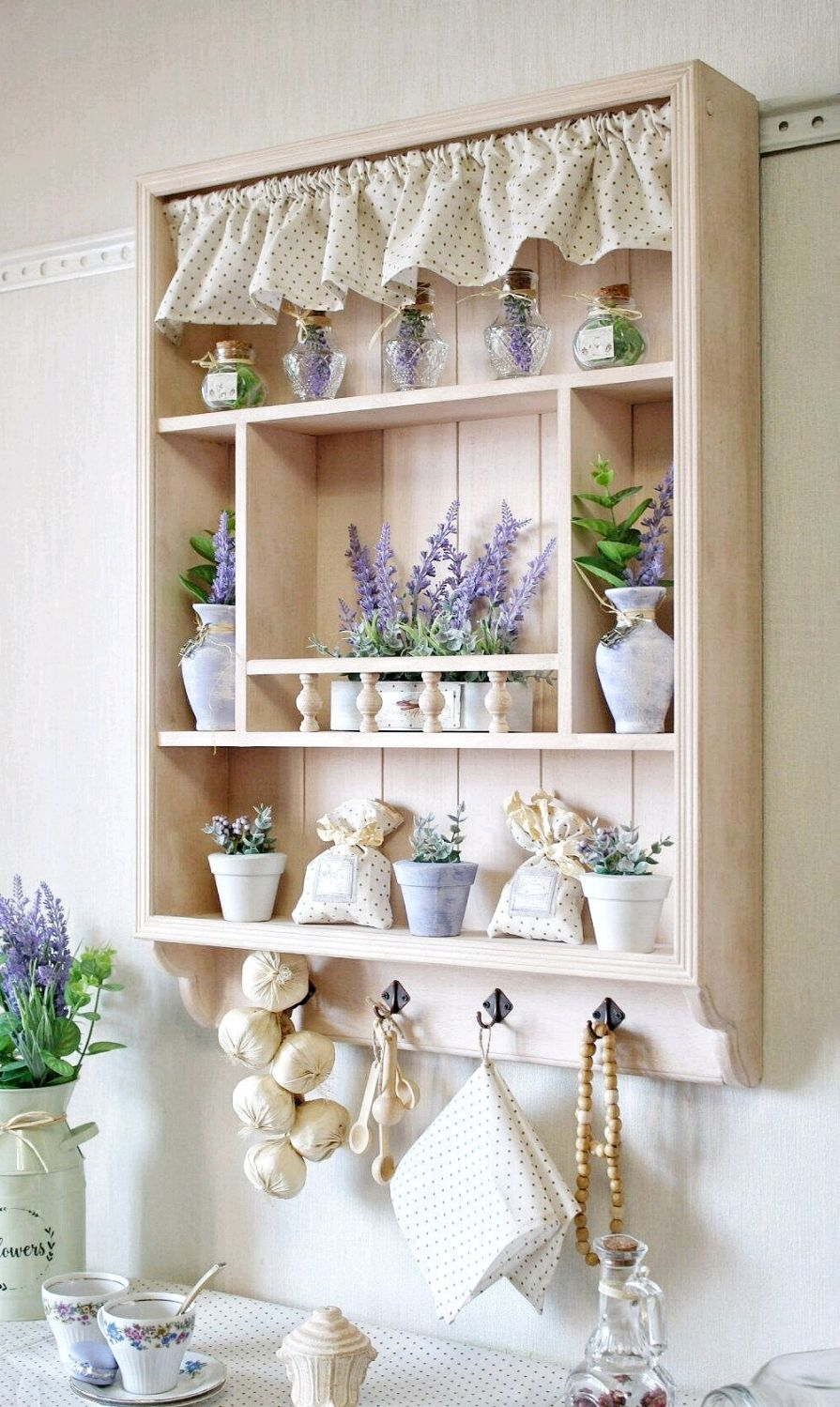 Shelf on the wall for the kitchen in beige color series Lavender, Shelves, Barnaul,  Фото №1