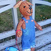Мягкие игрушки ручной работы. Ярмарка Мастеров - ручная работа Собака Пёс Булька текстильная игрушка. Handmade.