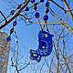 """Кулоны, подвески ручной работы. Кулон """"Синяя птица"""". Анна Мутина. Ярмарка Мастеров. Бусы, пластик"""