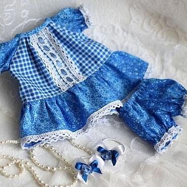 """Куклы и игрушки ручной работы. Ярмарка Мастеров - ручная работа Комплект одежды для куклы 27- 30 см """"Синий иней"""". Handmade."""