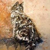 Картины и панно handmade. Livemaster - original item Oil painting Murka. Handmade.