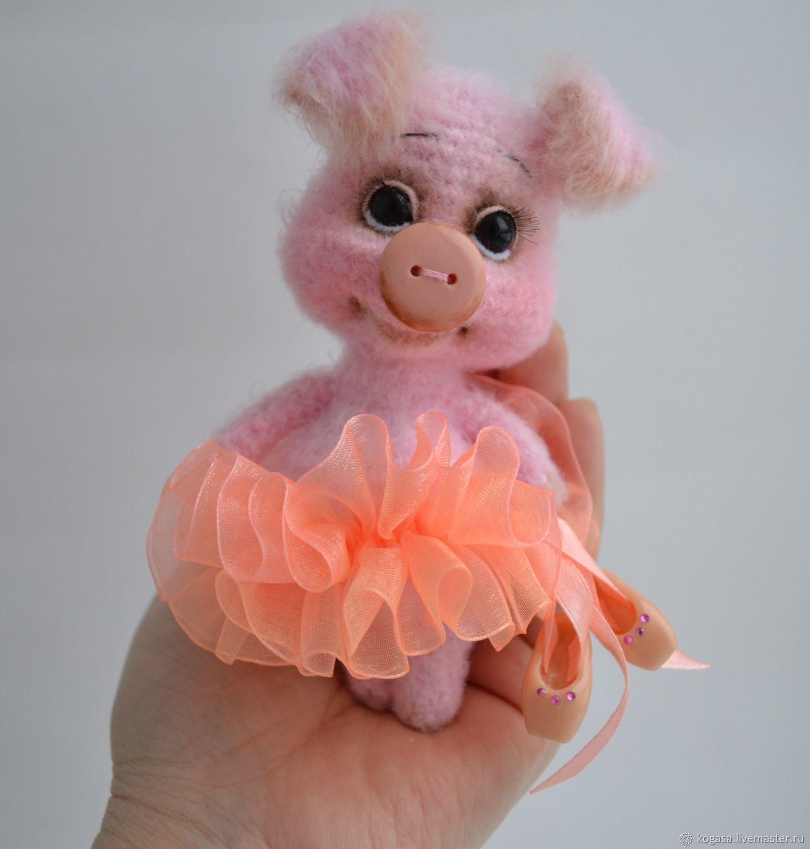 мк свинка балеринка крючок купить в интернет магазине на