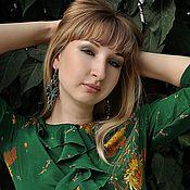 Украшения handmade. Livemaster - original item Soutache earrings Emerald butterfly. Handmade.
