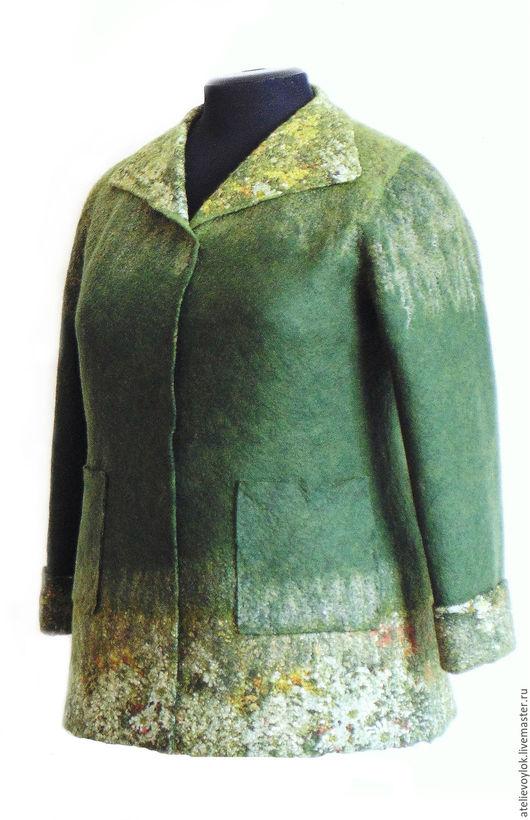 Пиджаки, жакеты ручной работы. Ярмарка Мастеров - ручная работа. Купить Жакет из шерсти, валяный, 56 размер.. Handmade.