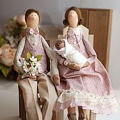 Куклы и игрушки ручной работы. Ярмарка Мастеров - ручная работа Тильда семья портретная кукла. Handmade.