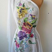 Материалы для творчества handmade. Livemaster - original item Embroidered applique. In stock! Oil painting. Handmade.