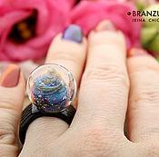 Украшения handmade. Livemaster - original item Galaxy ball - glass ring transparent Silver artisan lampwork. Handmade.