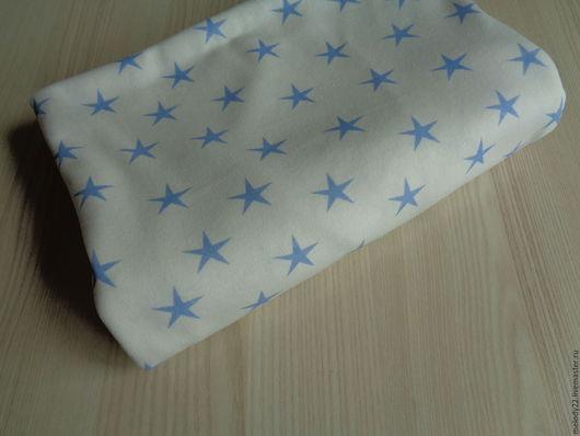 """Шитье ручной работы. Ярмарка Мастеров - ручная работа. Купить Интерлок """"Звёзды голубые"""".. Handmade. Комбинированный, интерлок"""