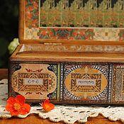 """Для дома и интерьера ручной работы. Ярмарка Мастеров - ручная работа Шкатулка """"Времена года в стиле арт-нуво"""". Handmade."""